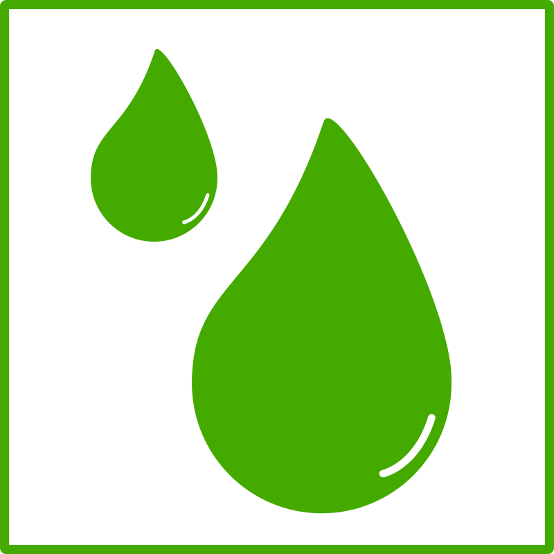 Free eco green drop of water icon
