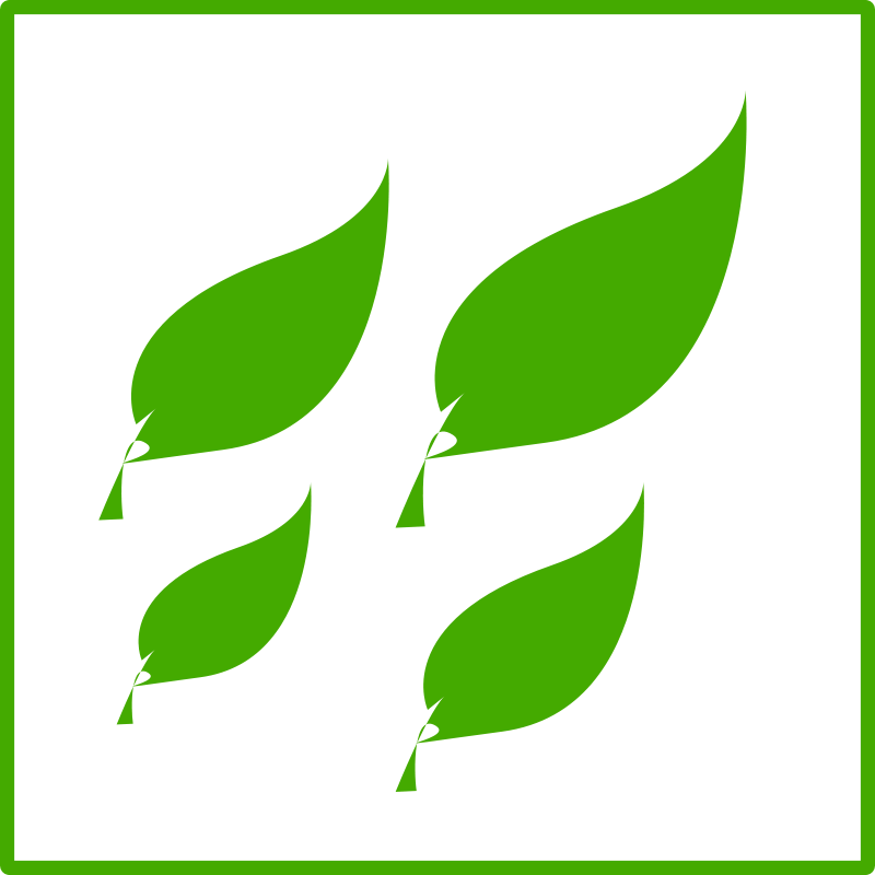 Free eco green leaves icon