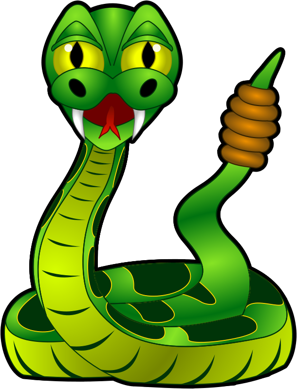 Free Cartoon Rattlesnake