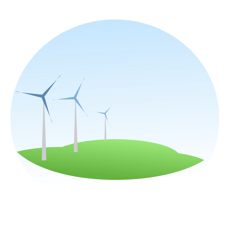 Free wind mills