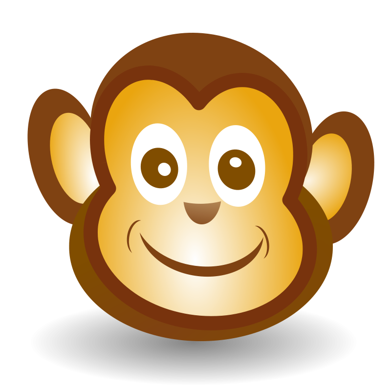 free clipart funny monkey face netalloy rh 1001freedownloads com baby monkey face clipart cute monkey face clipart