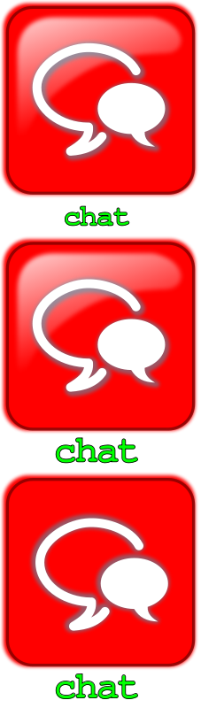 Free Clipart: Botón Chat | mediobit
