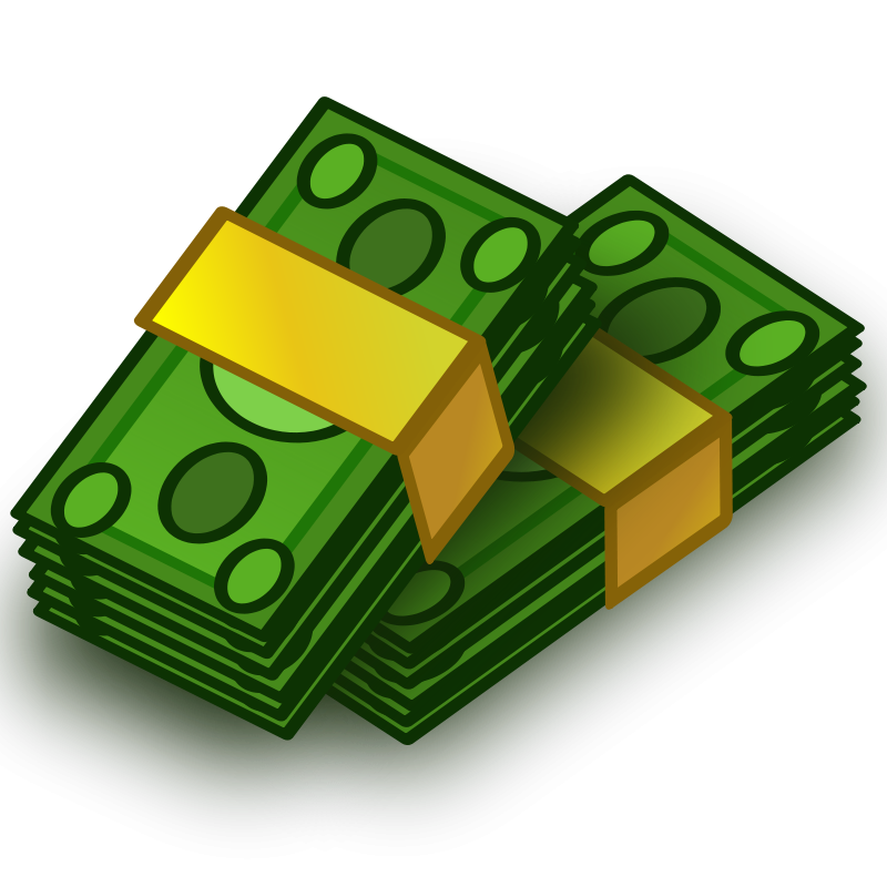 Free Clipart: Money wads | vokimon