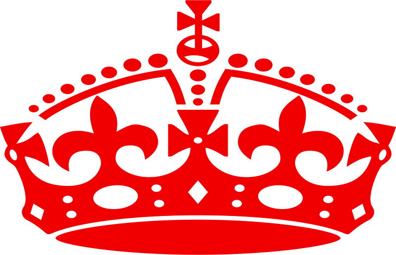 Free Clipart: Jubilee crown red | mr_johnnyp