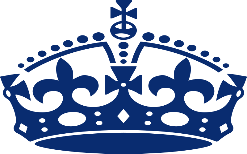 Free Clipart: Jubilee crown blue | mr_johnnyp