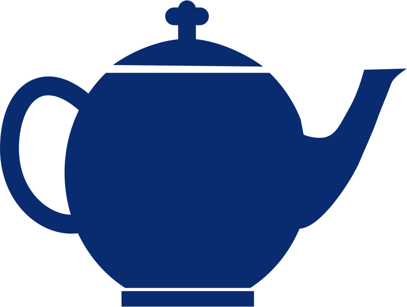 Free Jubilee tea pot blue