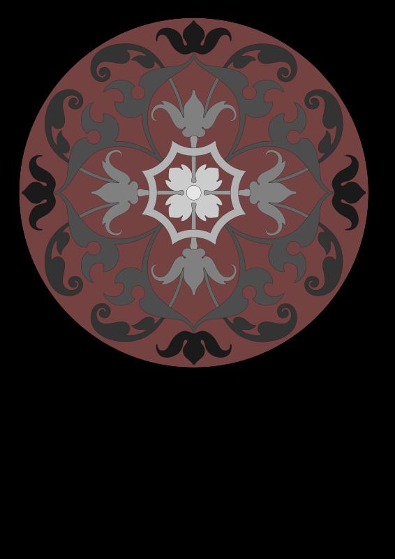 Free Round ornamental panel