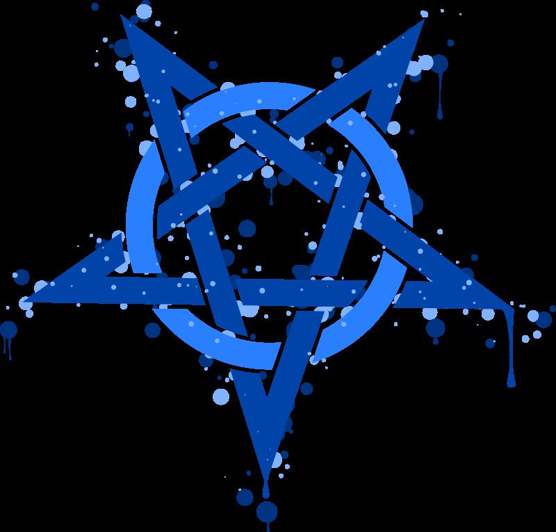 Free Pentagramme Taches Bleues
