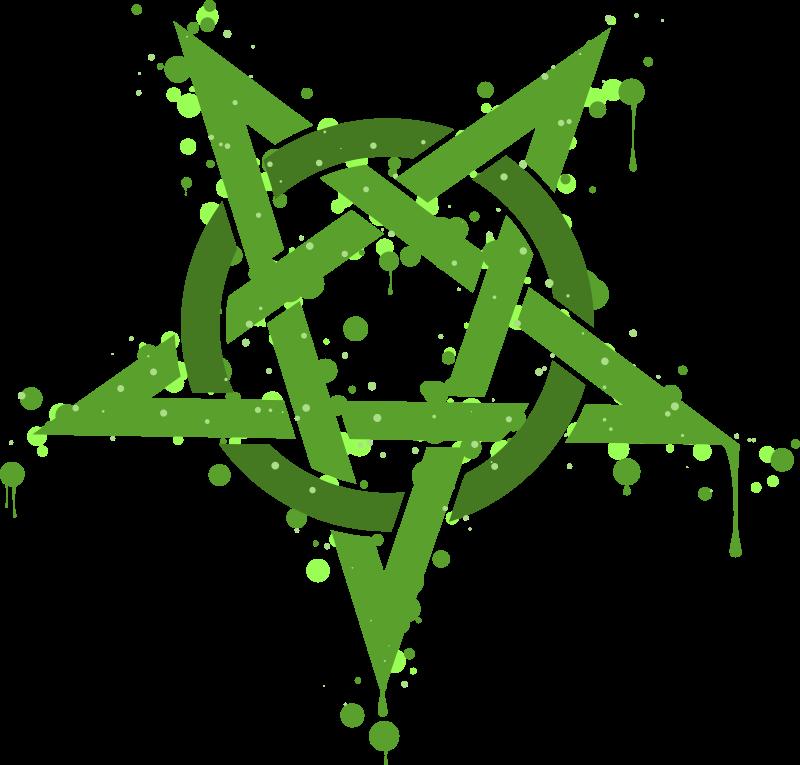 Free Pentagramme Taches Vertes
