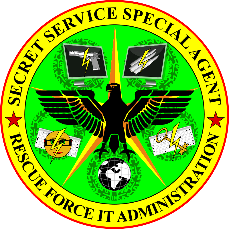 Free Secret Service Special Agent Rescue Force IT Administration badge