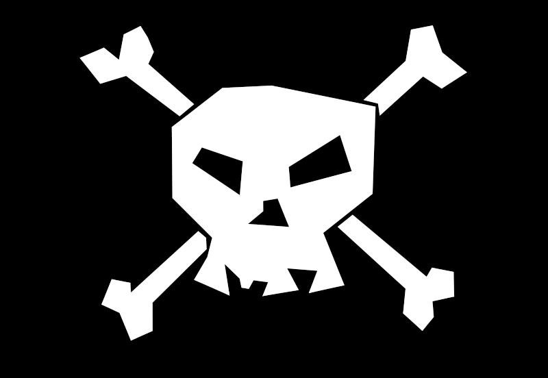Free White skull 'n white bones!