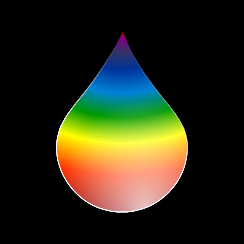 Free Clipart: Rainbow Drop | kg