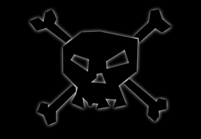 Free Black skull 'n black bones!