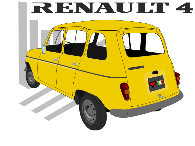 Free Clipart: Renault 4TL | martin74