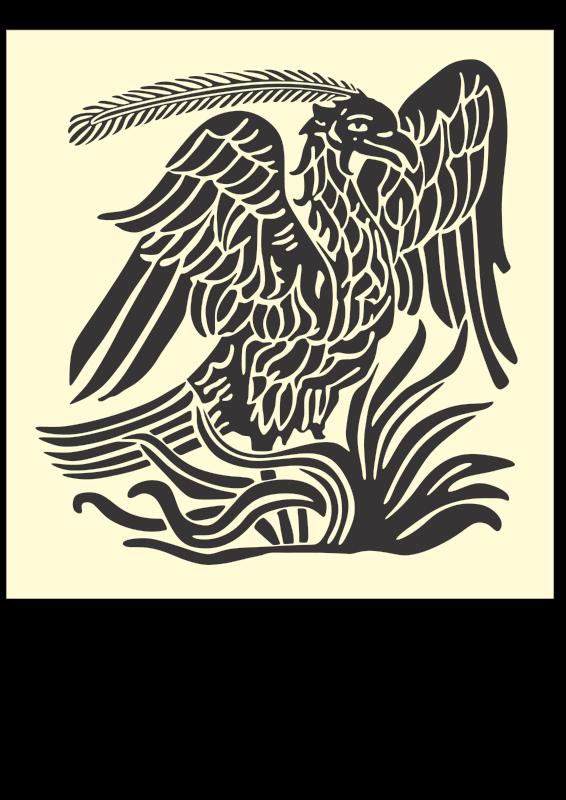 Free Phoenix bird pattern