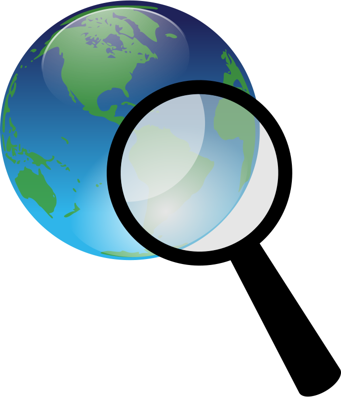 Free Earth and magnify glass