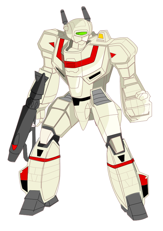 Free Clipart: Mecha fighter | JZA