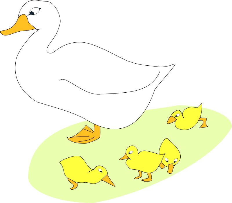Free Goose and goslings