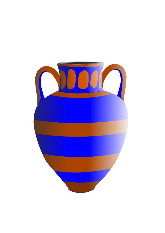 Free old fashioned vase blue and brown