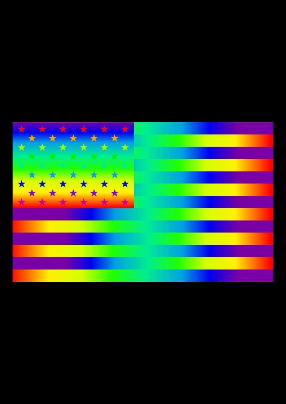 Free Clipart: Rainbow USA | scyg
