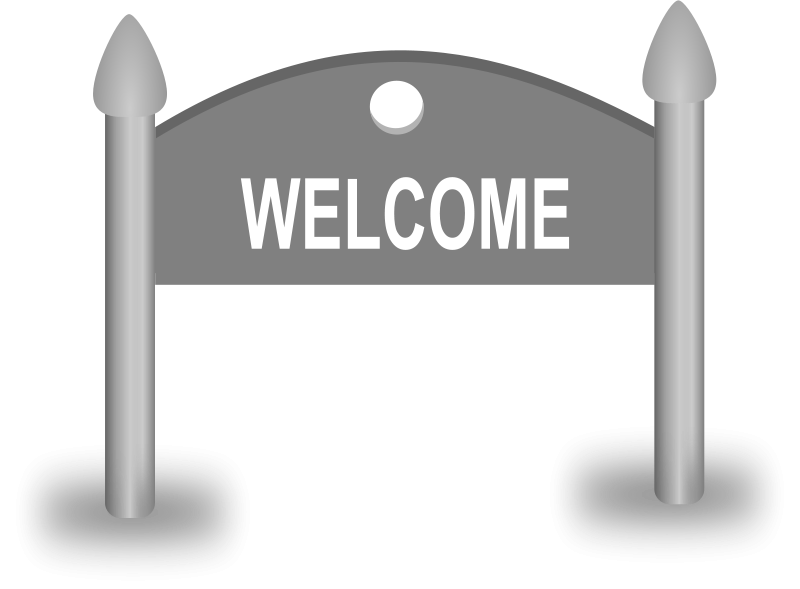 Free Welcome Sign board