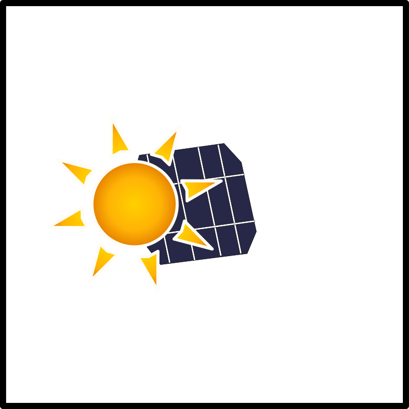 Free solar panel in the sun