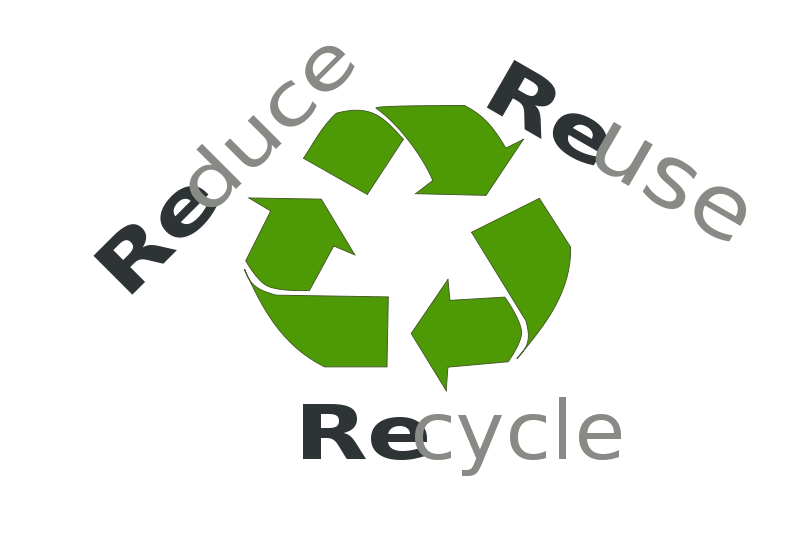 Free Reduce Re-use recycle
