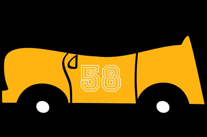 Free 2D yellow fun car