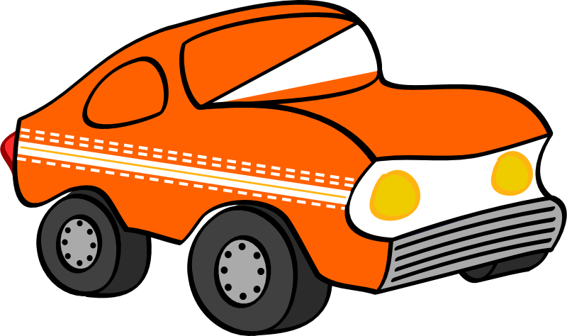 Free orange funny car