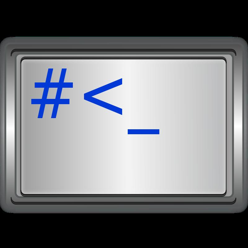 free clipart linux unix terminal ilnanny rh 1001freedownloads com Operating System Clip Art Linux Logo Clip Art