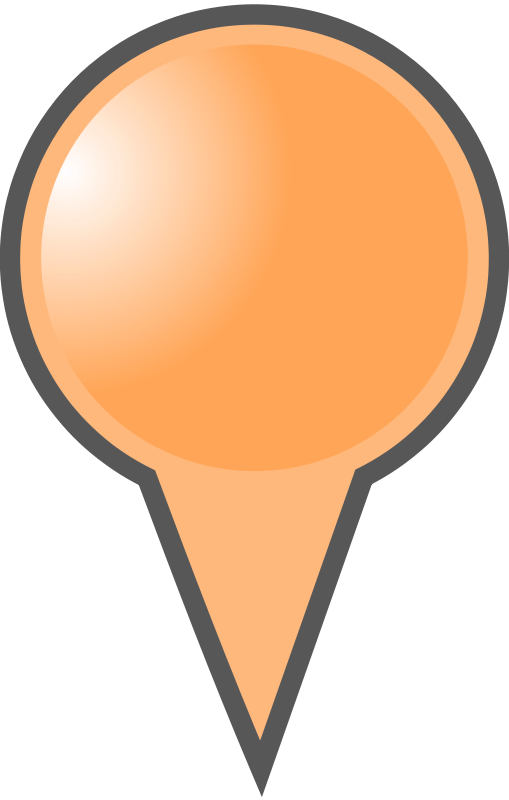 Free Clipart: Orange Map Marker | mightyman
