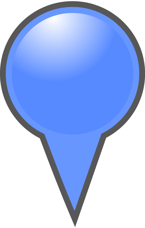 Free Blue Map Marker