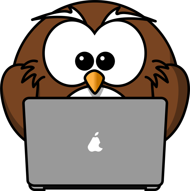 Free Owl with notebook