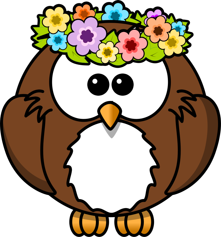 Free Owl with garland