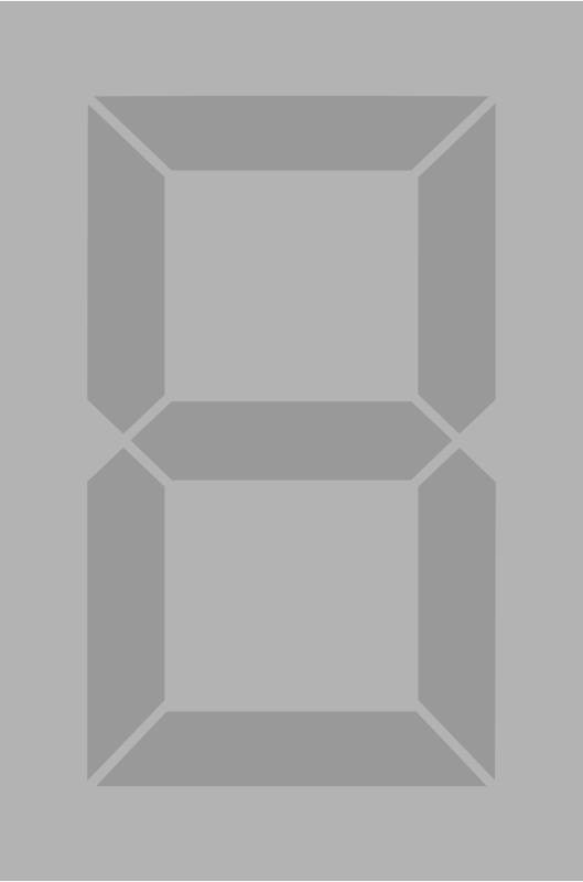 Free Seven segment display gray off