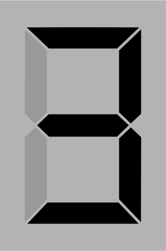 Free Seven segment display gray 3