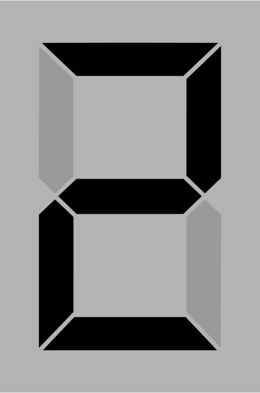 Free Seven segment display gray 2