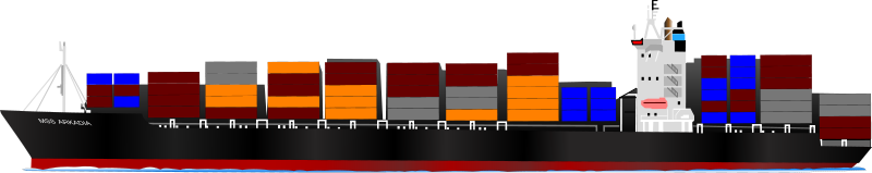 Free Clipart: Container ship | jogdragoon
