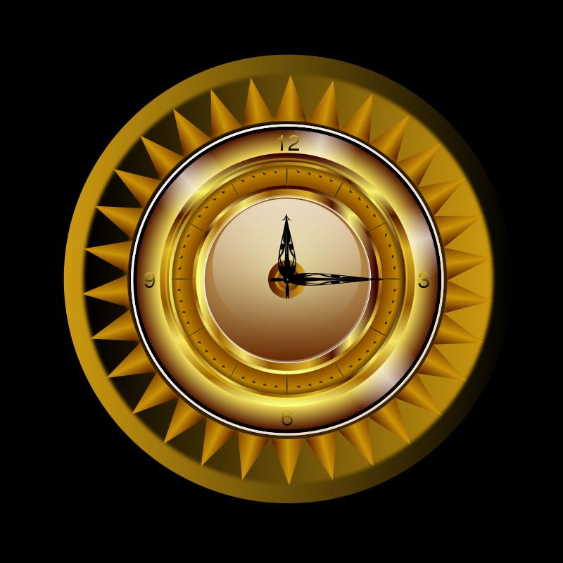 Free Gold clock