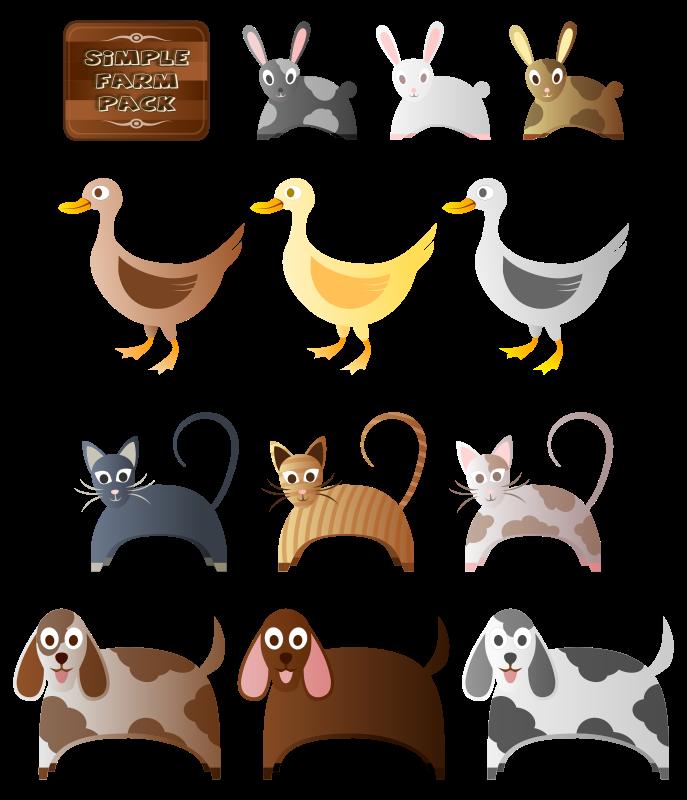 Free Simple Farm Animals 2