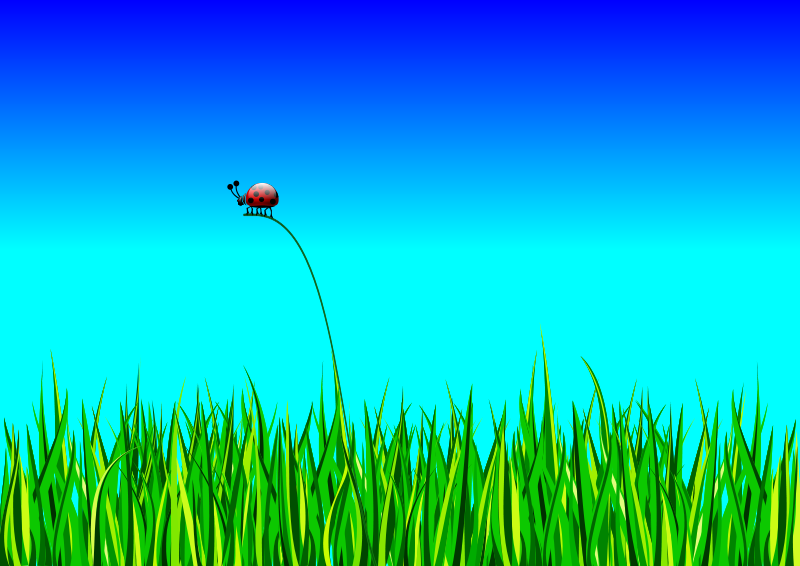 Free Grass with bug