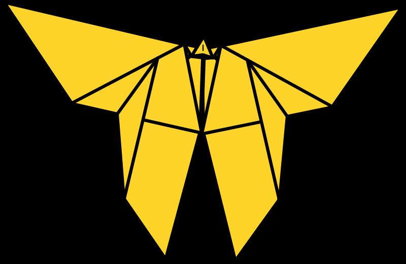 free clipart origami butterfly tavin rh 1001freedownloads com origami bird clip art origami bird clip art