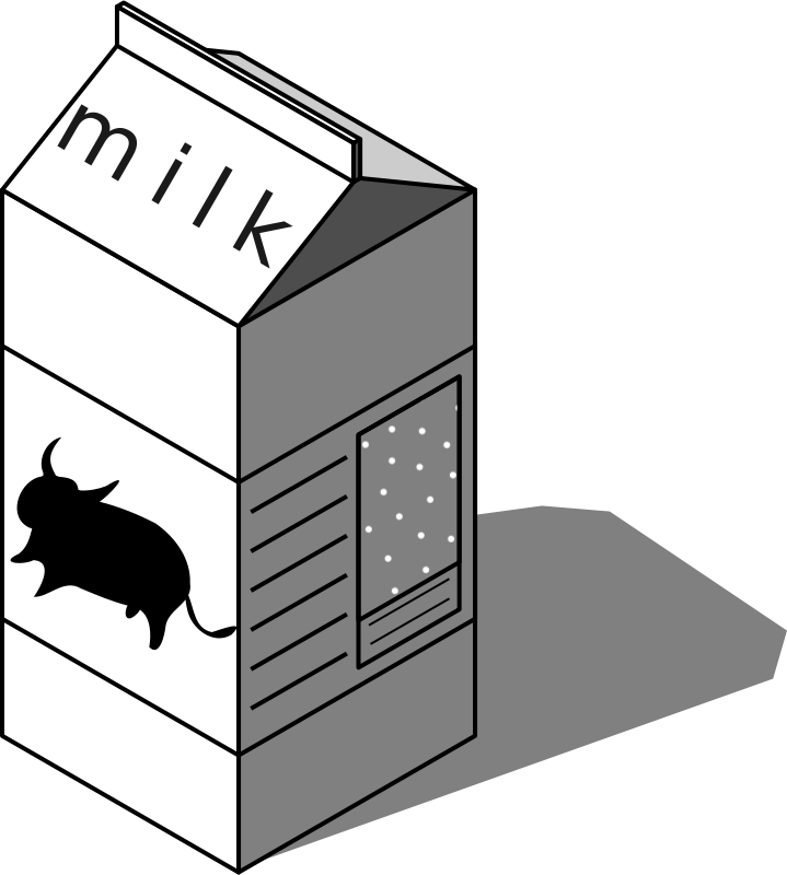Free caja de leche, milk box