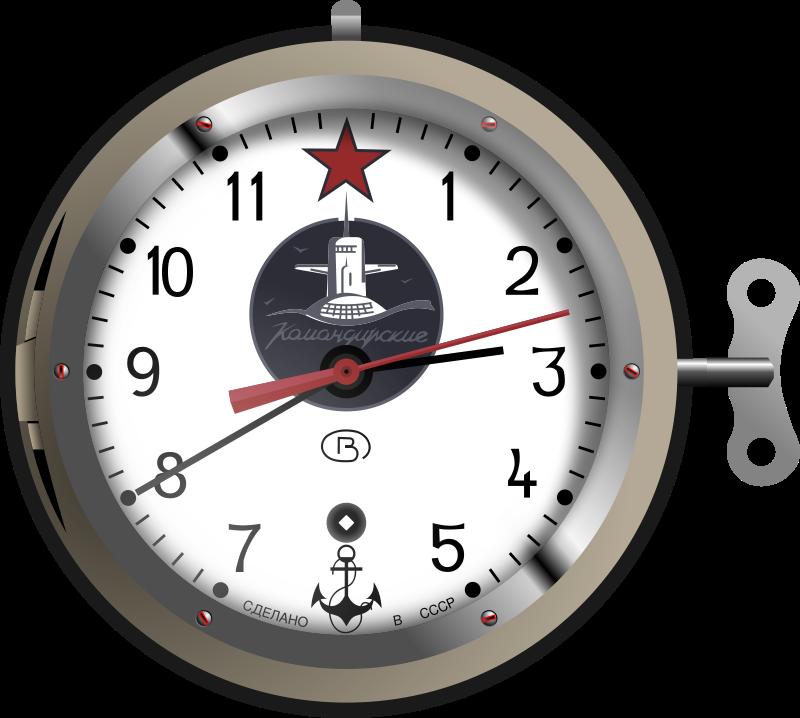 Free Soviet Nuclear Submarine Clock
