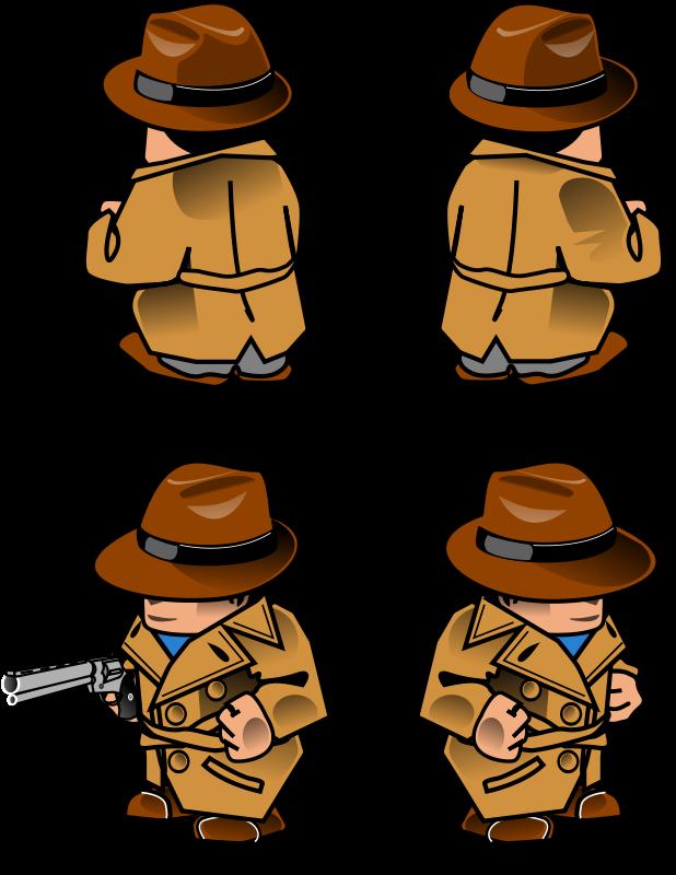 Free Noir detective sprite