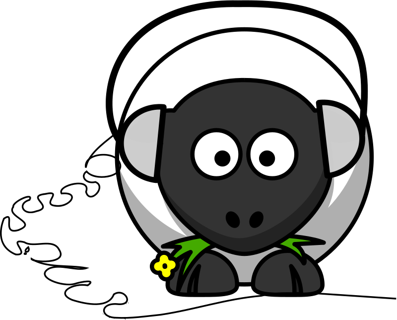 Free Clipart: Music sheep | dodger2