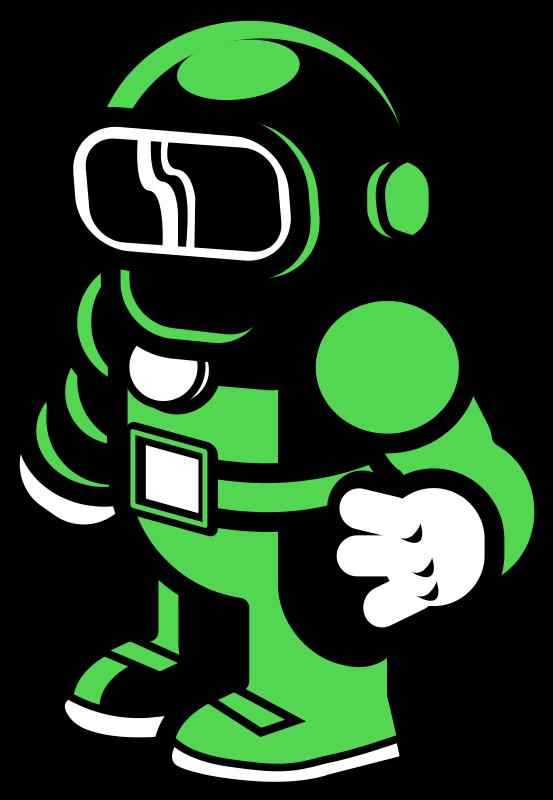 Free Green Spaceman