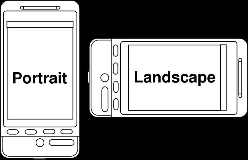 Free Portrait v Landscape Device Orientation