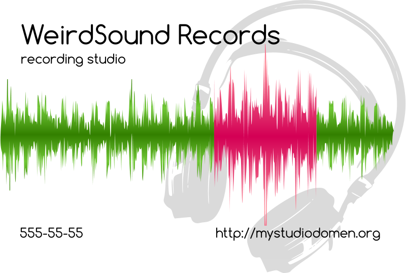Free White businesscard for recording studio