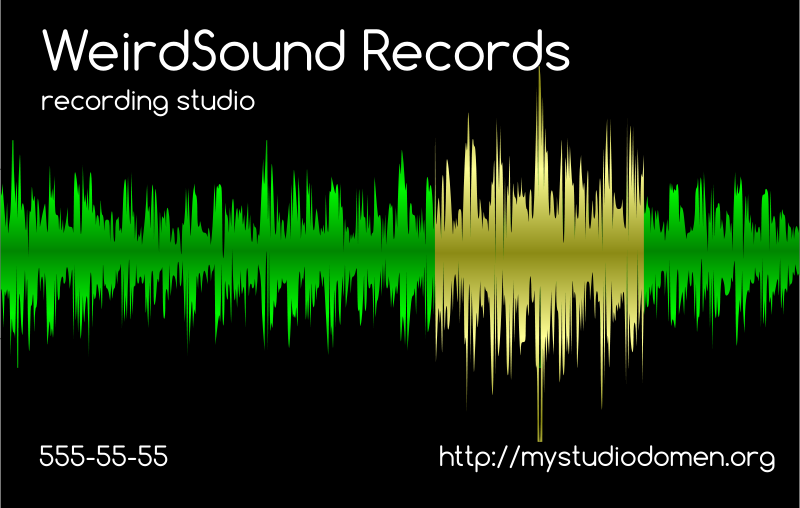 Free Black businesscard for recording studio